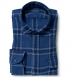 Japanese Washed Faded Blue Country Plaid Shirt Thumbnail 1
