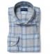 Canclini Light Grey and Blue Plaid Beacon Flannel Shirt Thumbnail 1