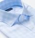 Non-Iron Supima Light Blue End-on-End Check Shirt Thumbnail 2