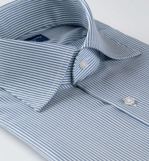 Reda Blue Pencil Stripe Merino Wool