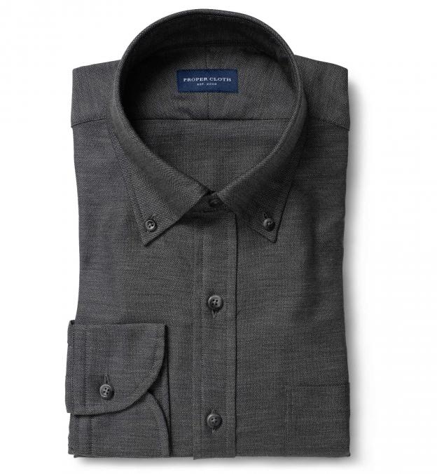 Charcoal Melange Oxford