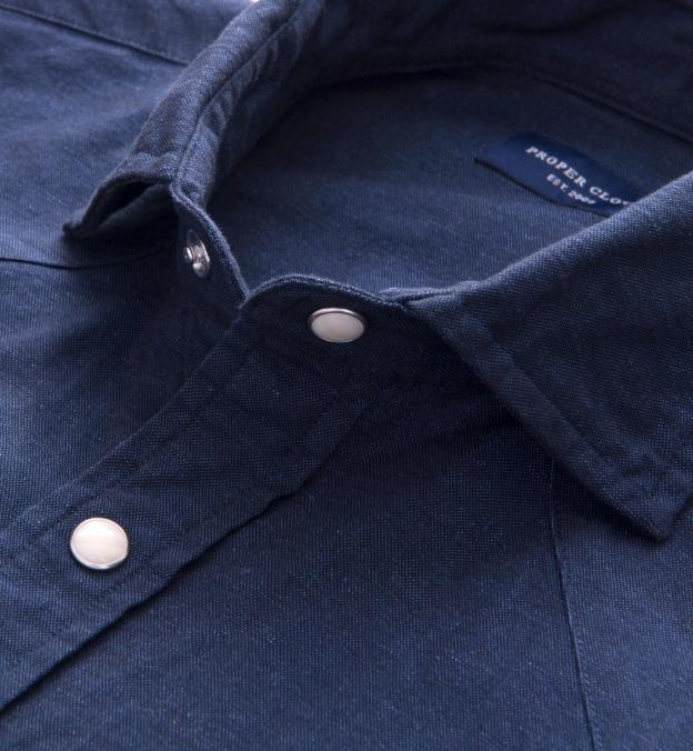 Portuguese Navy Cotton Linen Oxford