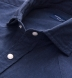 Portuguese Navy Cotton Linen Oxford Shirt Thumbnail 2