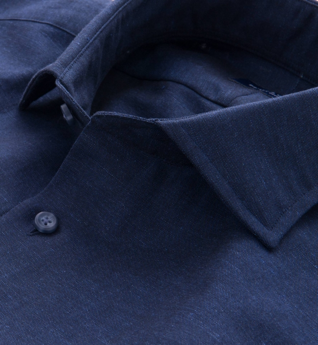 Portuguese Navy Cotton Linen Oxford