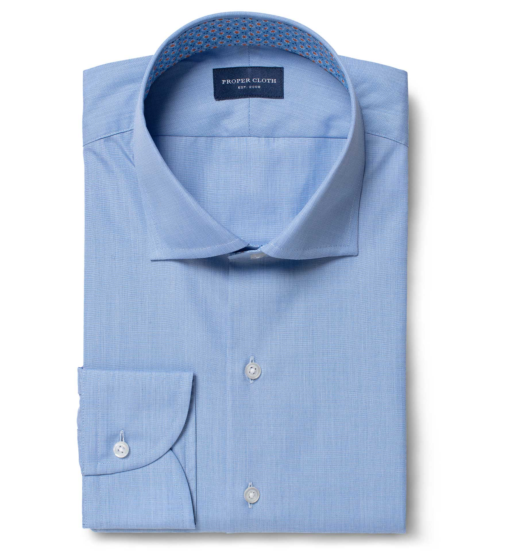 Stanton 120s Blue End On End Mens Dress Shirt By Proper Cloth