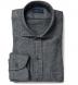 Canclini Grey Extra Large Herringbone Beacon Flannel Shirt Thumbnail 1