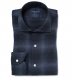 Canclini Slate Ombre Plaid Flannel Shirt Thumbnail 1