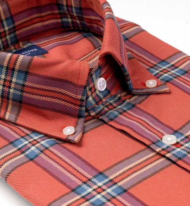 Faded Washed Red and Blue Vintage Plaid