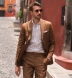 Portuguese Beige Stripe Cotton Linen Oxford Shirt Thumbnail 2