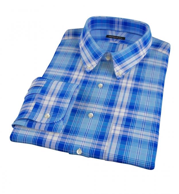 Canclini Appenine Plaid Dress Shirt
