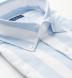 Portuguese Light Blue Extra Wide Stripe Cotton Linen Oxford Shirt Thumbnail 2