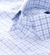 Thomas Mason Blue and Grey End-on-End Check Shirt Thumbnail 2