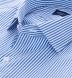 140s Blue Wrinkle-Resistant Bengal Stripe Shirt Thumbnail 2