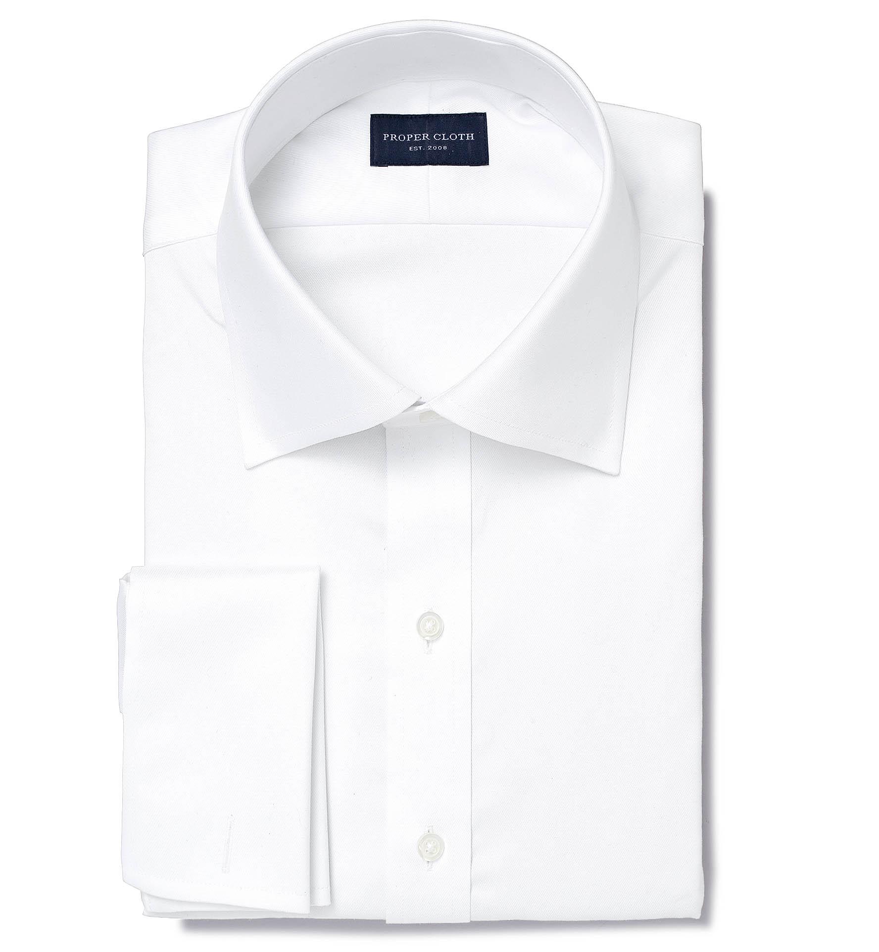 Lafayette White Twill Mens Dress Shirt By Proper Cloth