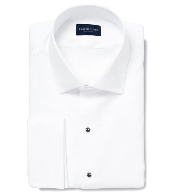 Weston White Pinpoint Fitted Shirt