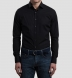 Miles 120s Black Broadcloth Shirt Thumbnail 3