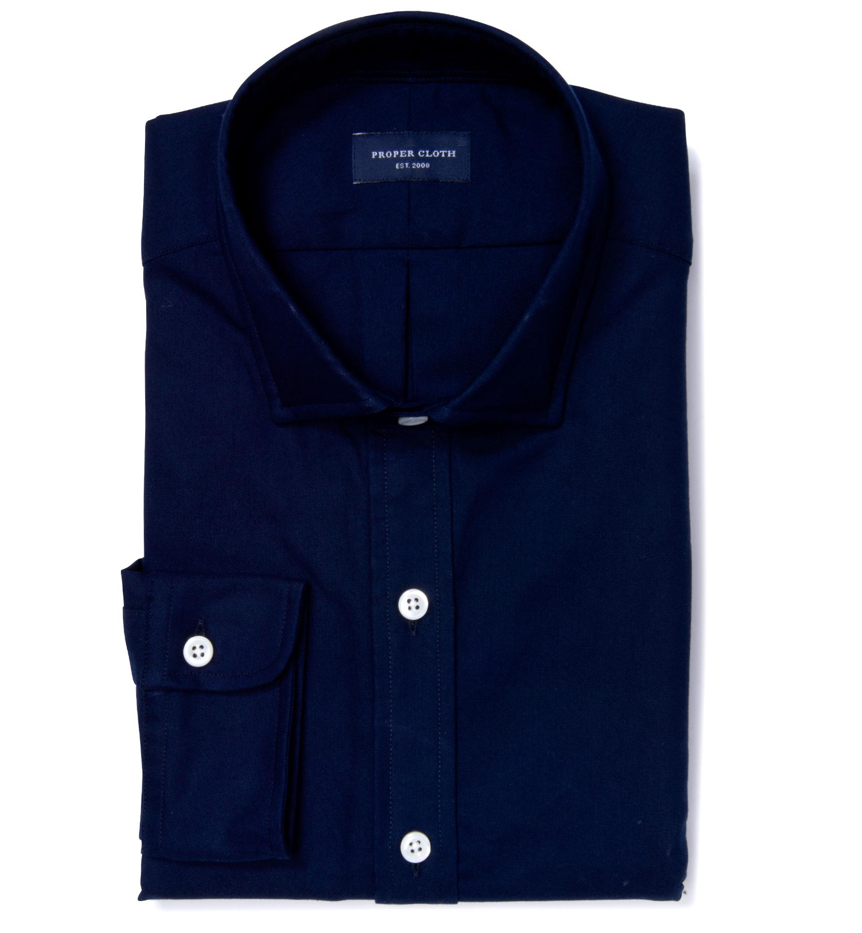 Midnight Navy Heavy Oxford Mens Dress Shirt By Proper Cloth
