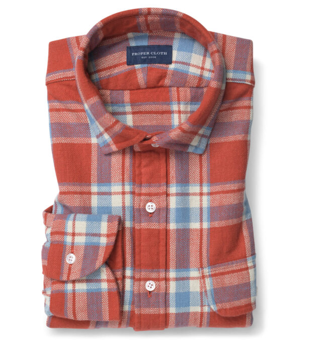 Japanese Washed Tomato and Sky Country Plaid