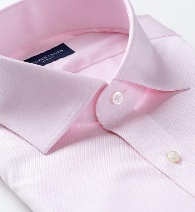 Non-Iron Light Pink Fine Twill