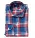 Japanese Blue and Red Summer Plaid Shirt Thumbnail 1