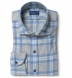 Canclini Grey and Slate Plaid Beacon Flannel Shirt Thumbnail 1