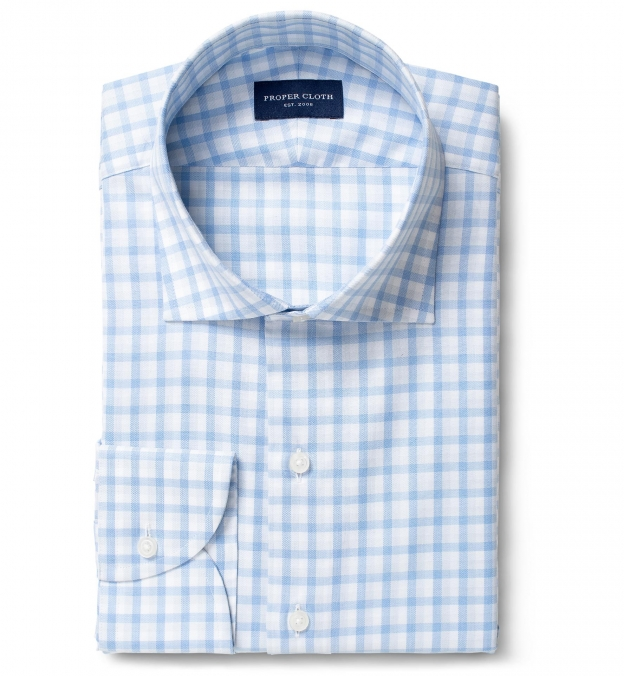 Lucca Blue and Light Grey Shadow Check