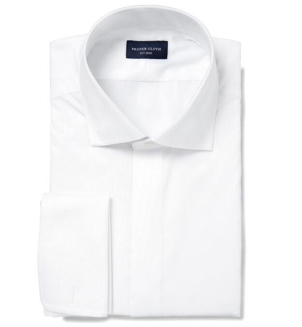 Mercer White Twill Tuxedo Covered Front