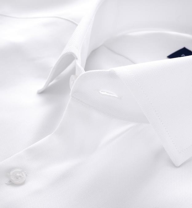 Thomas Mason Wrinkle-Resistant White Royal Oxford