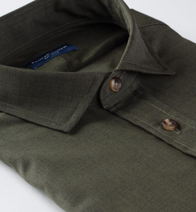 Reda Fatigue Green Merino Wool