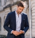 Albini Blue Stripe Comfort Chambray Popover Shirt Thumbnail 3