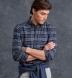 Teton Heather Blue and Grey Plaid Flannel Shirt Thumbnail 3