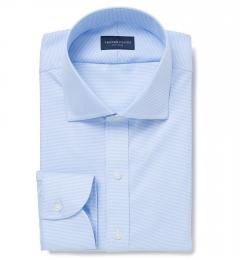 Mayfair Wrinkle-Resistant Light Blue Houndstooth Custom Made Shirt