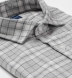 Satoyama Light Grey Plaid Flannel Shirt Thumbnail 2