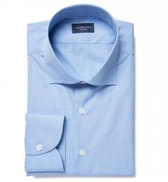 Blue 100s End-on-End Custom Made Shirt