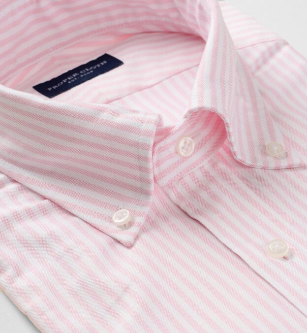 Pink University Stripe Heavy Oxford
