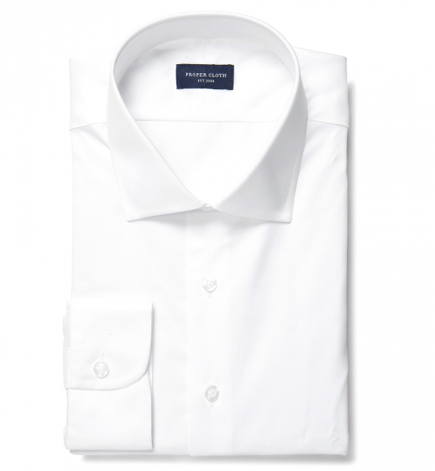 Crosby White Wrinkle-Resistant Twill