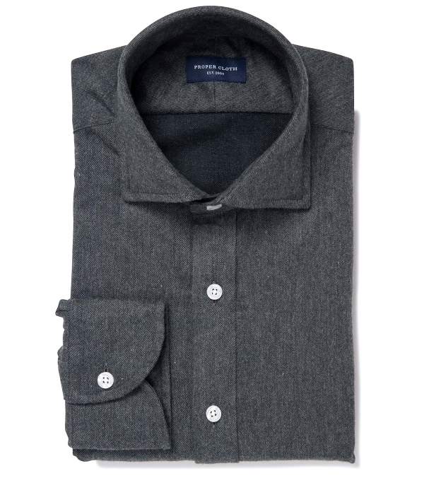 Canclini Charcoal Twill Beacon Flannel