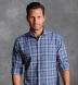 Bondi Slate Plaid Linen Blend Shirt Thumbnail 3