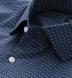 Albini Navy Mini Foulard Print Shirt Thumbnail 2