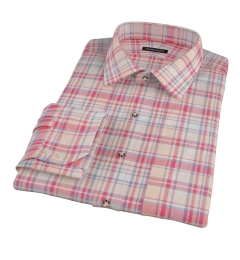 Red and Blue Organic Madras Tailor Made Shirt