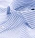 Albini Blue Stripe Comfort Chambray Popover Shirt Thumbnail 2