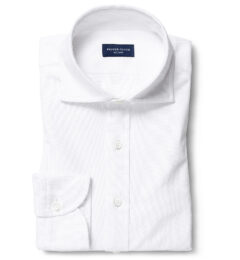 Thomas Mason White Comfort Oxford Men's Dress Shirt