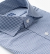 Performance Stretch Navy Small Gingham Shirt Thumbnail 2