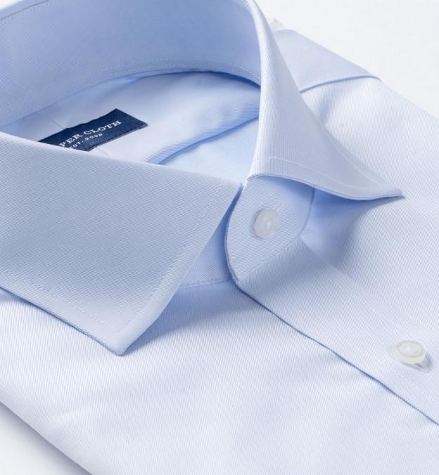 Hudson Wrinkle-Resistant Light Blue Twill