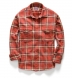 Japanese Washed Scarlet and Gold Country Plaid Shirt Thumbnail 3