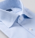 Thomas Mason Goldline Blue and Light Blue Tattersall Shirt Thumbnail 2