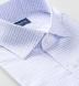 Thomas Mason Non-Iron Lavender and Light Blue Check Shirt Thumbnail 2