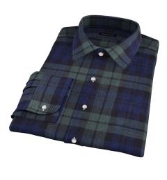 Japanese Blackwatch Country Plaid Men's Dress Shirt