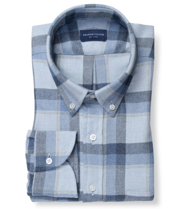 Canclini Frost Shadow Plaid Beacon Flannel