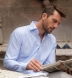 Mayfair Wrinkle-Resistant Blue Multi Check Shirt Thumbnail 4